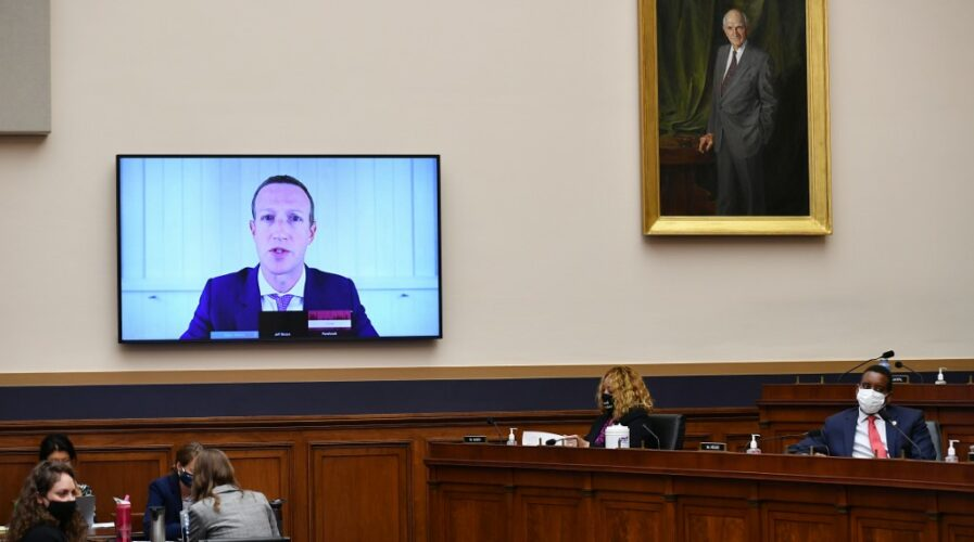 Before the lawsuits, Facebook CEO Mark Zuckerberg testifies before the House Judiciary Subcommittee on Antitrust, Commercial and Administrative Law back on July 29, 2020
