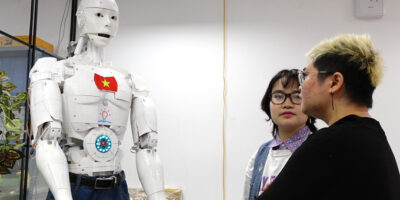 "In digitally quick Vietnam, an AI robot fitted with five ""senses"" and Google search is being equipped to be a teaching assistant"