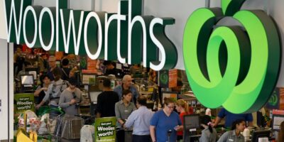 Shoppers at a Woolworths supermarket (part of the Woolworths Group) in Perth
