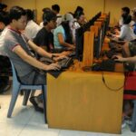 A common sight - Filipino youths at internet cafes. Digital Banks meanwhile target the digitized. AFP PHOTO / Jay DIRECTO (Photo by JAY DIRECTO / AFP)