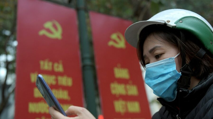 Vietnam's economy and growth will be predicated on the growth of the digital economy. (Photo by Nhac NGUYEN / AFP)