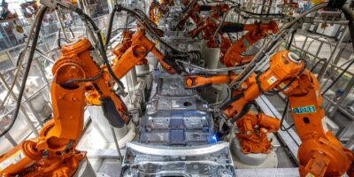 Robotics and automation are a major part of the workforce automation assembly line. (Photo by Dan Sandoval / Great Wall Motor Co. Ltd.)