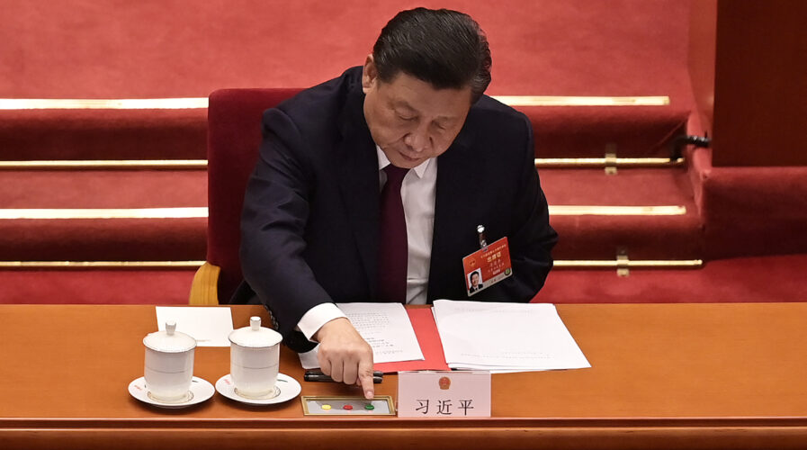 China's newest legislative move on data privacy closely resembles the world's most robust framework for online privacy protections, Europe's GDPR. (Photo by NICOLAS ASFOURI / AFP)