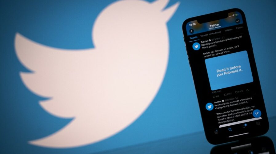 """Twitter said it would offer a cash """"bounty"""" to users and researchers to help root out algorithmic bias on the social media platform. (Photo by Lionel BONAVENTURE / AFP)"""