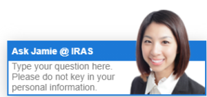 The ubiquitous 'Ask Jamie' popup on the IRAS website. AI chatbots such as Jamie are used in a variety of public and private industries to help attend to customer queries.